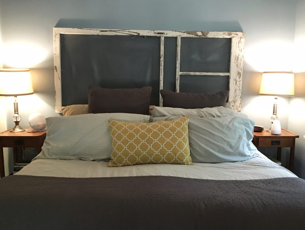 DIY Chippy White Antique Headboard