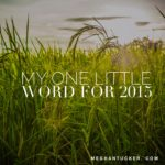 My One Little Word for 2015
